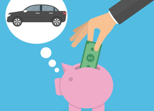 hand dropping money in piggy bank car in bubble.jpg