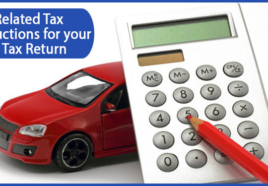 a red pencil and calculator in front of a red car.jpg